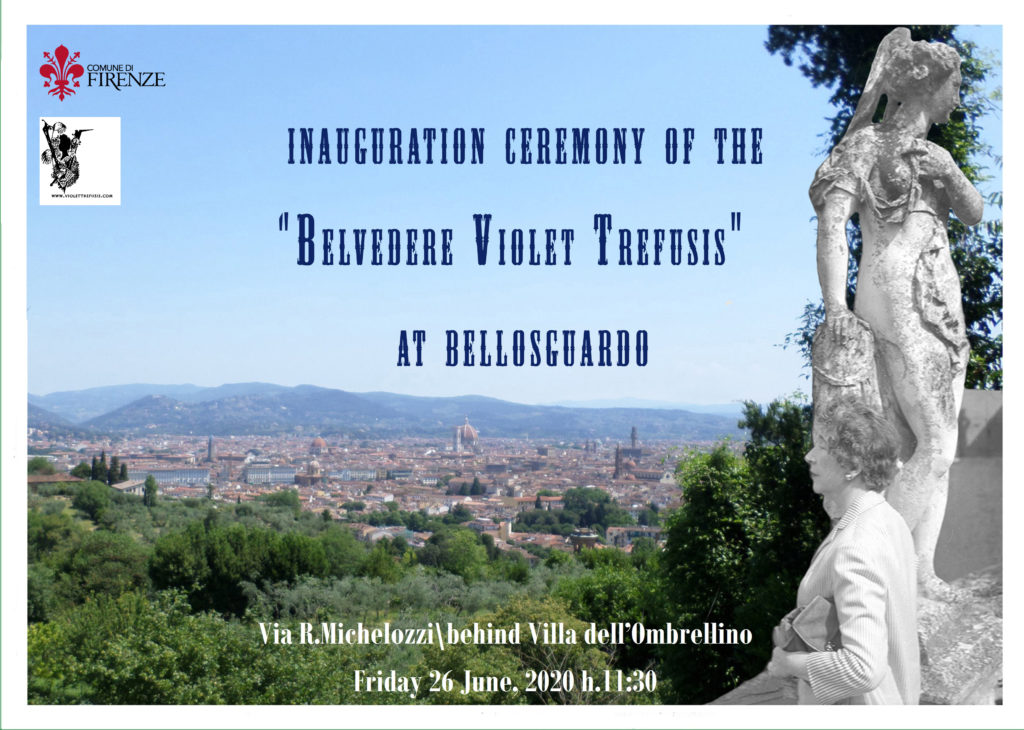 Inauguration ceremony of the Belvedere Violet Trefusis