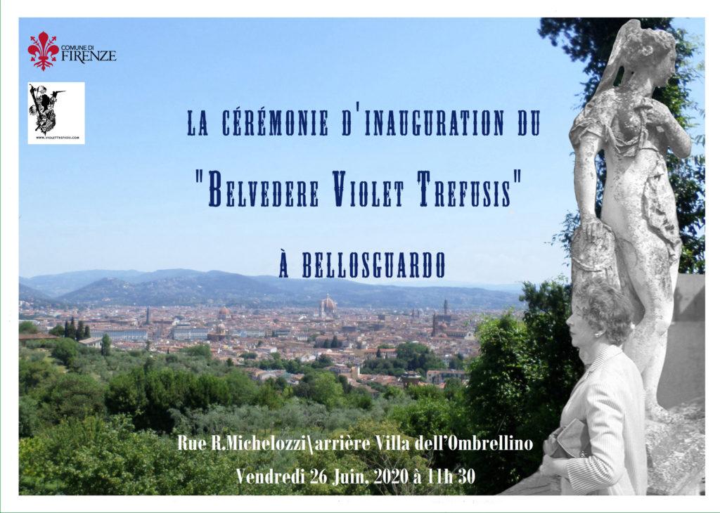 Cérémonie d'inauguration du Belvedere Violet Trefusis